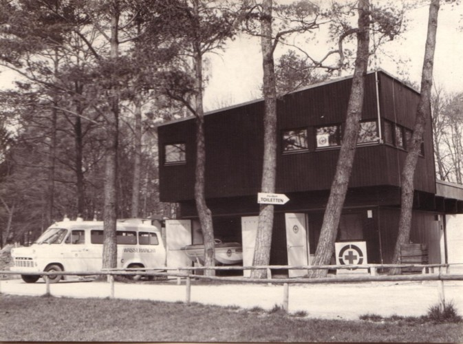 Wasserwachtstation Kuhsee in den frühen 70er Jahren
