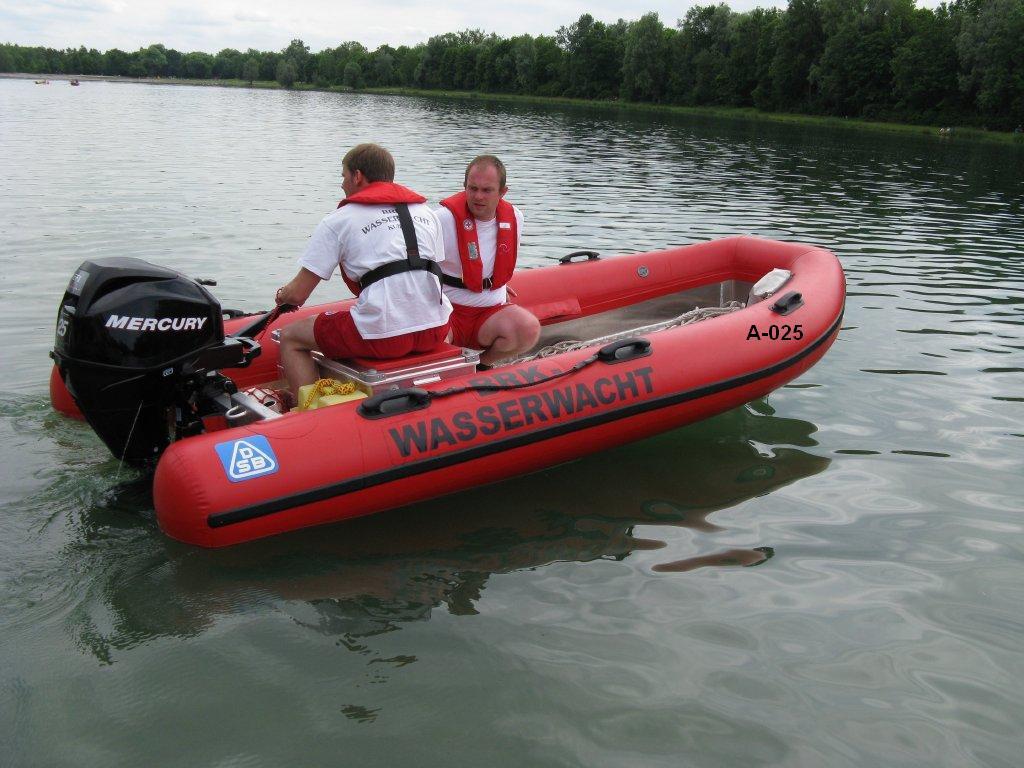Bootsführer Fortbildung mit dem MRB der SEG Kuhsee während des Wachdienstes