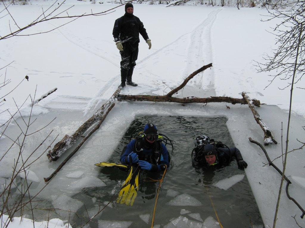 Fortbildung Eistauchen am Kuhsee