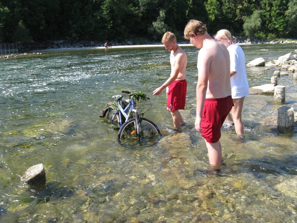 Fahrrad im Lech